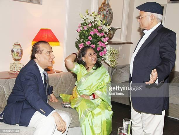 Nari Hira and Jaya Bachchan at 40th Year of Magna Publishing anniversary bash at Breach Candy Mumbai