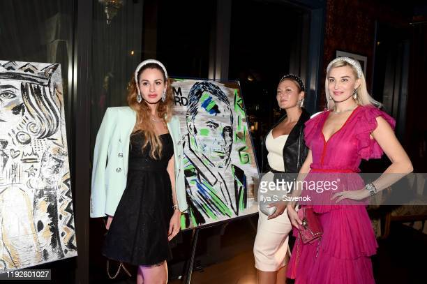 Narine Arakelian, Anna Namit, and Olga Vesnina attend 'The Last Kings' at Swan Miami on December 07, 2019 in Miami, Florida.