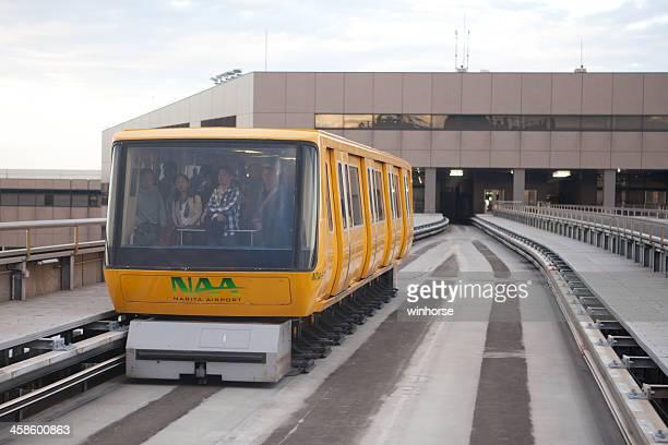 narita airport terminal 2 shuttle system - narita international airport stock photos and pictures