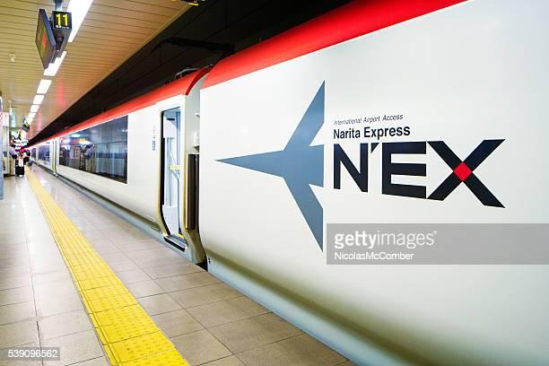 JR Narita Express train at station
