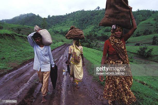 Narmada Dam Site In India In July, 1995-People from the Taravi Tribe.