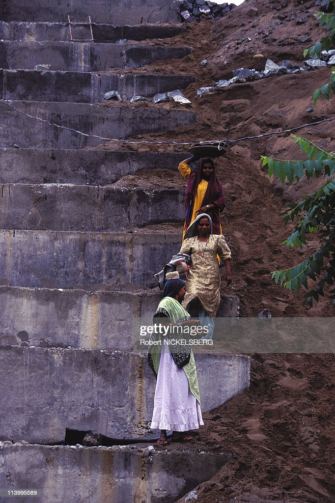 Narmada Dam Site In India In July, 1995- : News Photo