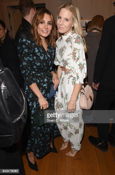 Narmina Marandi and Alice NaylorLeyland attend the Emilia Wickstead AW17 catwalk show at The College on February 18 2017 in London England