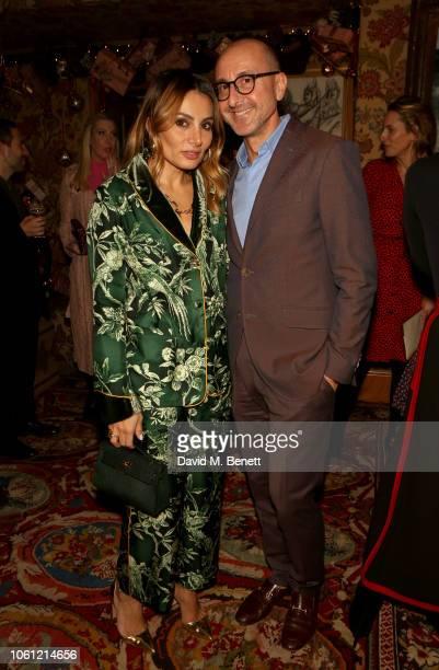 Narmina Marandi and Gianluca Longo attend the Cabana Magazine/ Martina Mondadori x Aerin Lauder collaboration dinner at 5 Hertford Street on November...