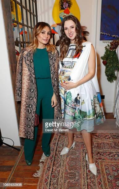 Narmina Marandi and Maria Baibakova attend the launch of THE ART OF EMPOWERMENT hosted by UN Women UK and Maria Baibakova for reception at Jessica...