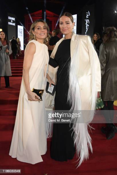 Narmina Marandi and Yana Peel arrive at The Fashion Awards 2019 held at Royal Albert Hall on December 2 2019 in London England