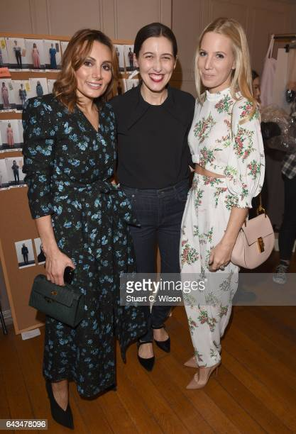 Narmina Marandi Emilia Wickstead and Alice NaylorLeyland attend the Emilia Wickstead AW17 catwalk show at The College on February 18 2017 in London...