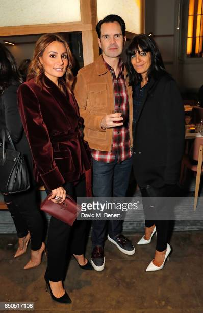 Narmina Marandi Jimmy Carr and Claudia Winkleman attend the launch of The National Cafe at the National Gallery on March 9 2017 in London England