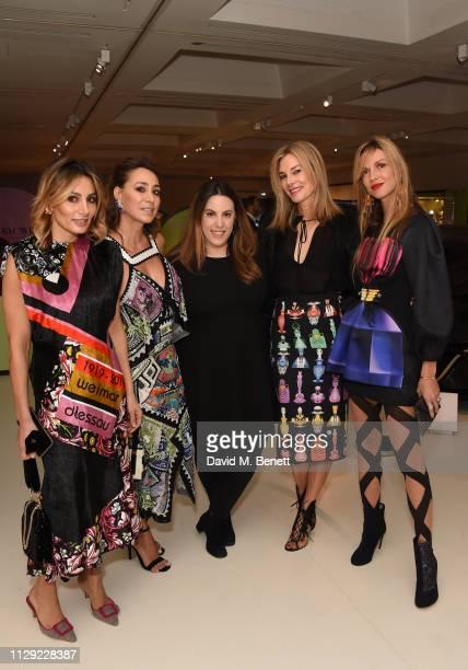 Narmina Marandi Sofia Barattieri Mary Katrantzou Kim Hersov and Caroline Massenet attend Ten Years in Fashion Mary Katrantzou 10th Anniversary Dinner...