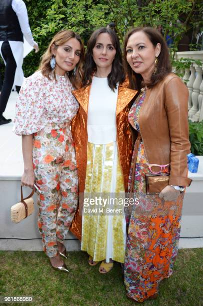 Narmina Marandi Tania Fares and Warly Tomei attend the 2018 BFC Fashion Trust grant recipients announcement hosted by Megha Mittal on May 23 2018 in...