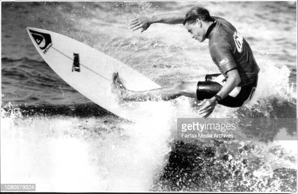 Narrabeen Coke Classic Surfing Contest FinalsRunner up Kelly Slater from USA May 3 1992