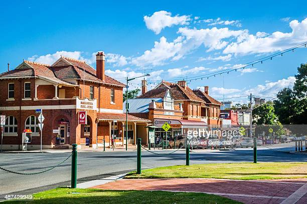 narrandera federation style buildings - town stock pictures, royalty-free photos & images