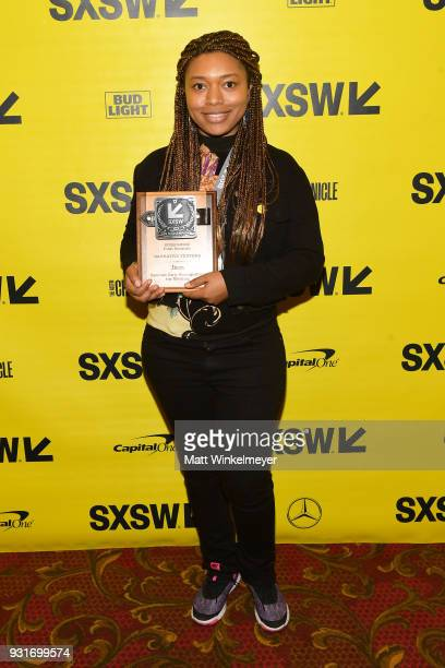 Narrative Feature Award winner for Jinn Nijla Mu'min attends the SXSW Film Awards Show 2018 SXSW Conference and Festivals at Paramount Theatre on...