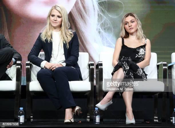 Narrator/producer Elizabeth Smart and actor Alana Boden of 'I Am Elizabeth Smart' speak onstage during the Lifetime and A+E portion of the 2017...