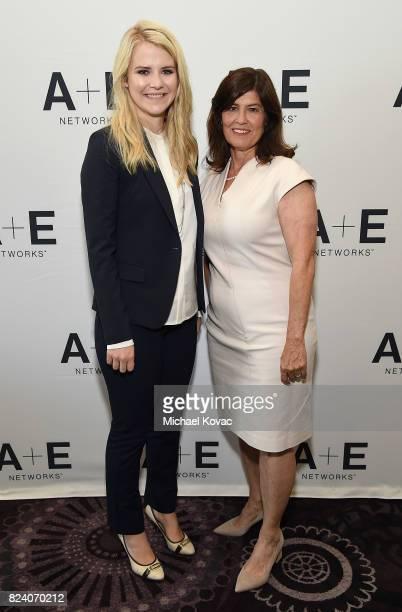 Narrator/producer Elizabeth Smart and Lifetime Original Movies SVP Tanya Lopez of 'I Am Elizabeth Smart' at the A+E Networks portion of the 2017...