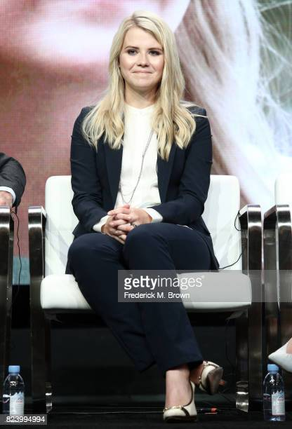 Narrator/producer Elizabeth Smart of 'I Am Elizabeth Smart' speaks onstage during the Lifetime and AE portion of the 2017 Summer Television Critics...