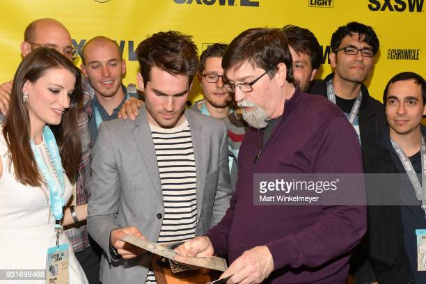 Narritive Feature Award winner for Thunder Road Jim Cummings James Finn and cast and crew of Thunder Road attend the SXSW Film Awards Show 2018 SXSW...