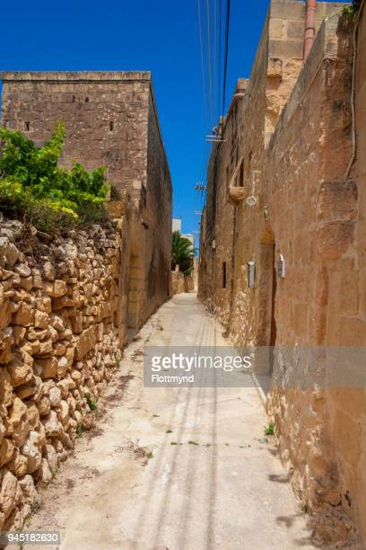 Narrow alley in Ghammer, Malta