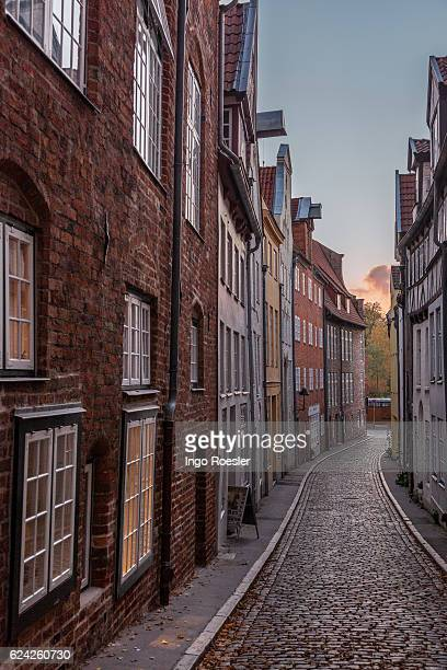 Narrow alley in Luebeck