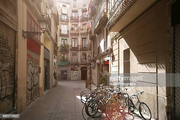 Narrow alleys filled with light, Barcelona