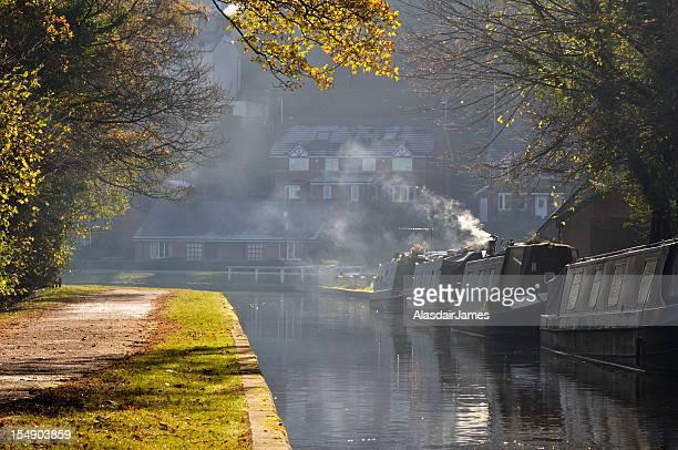Narrow Boats and wood smoke