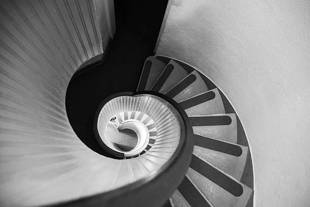Narrow Circular Staircase Abstract