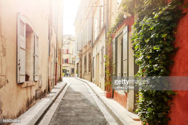 Narrow french backstreet, Arles, France