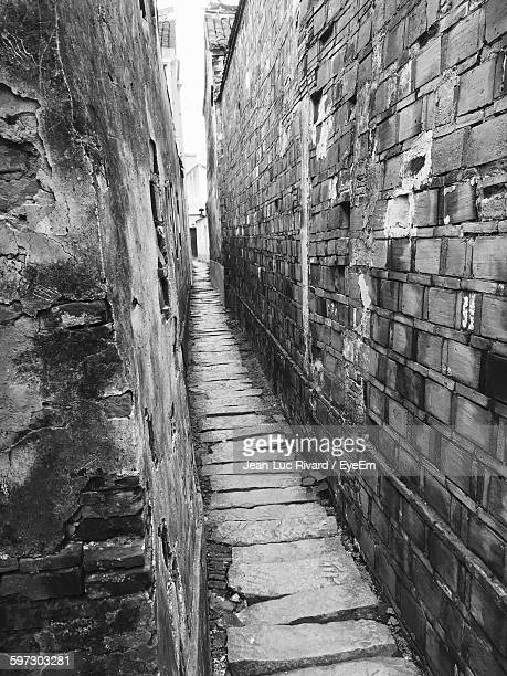 Narrow Lane Amidst Wall
