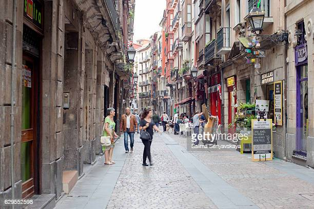 Narrow lanes of Bilbao. Spain