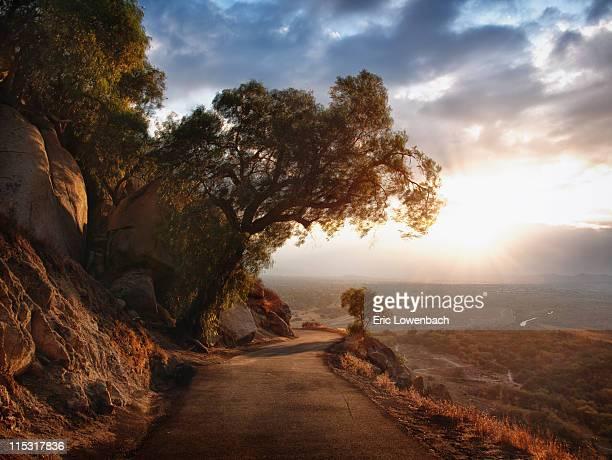 Narrow mountain road