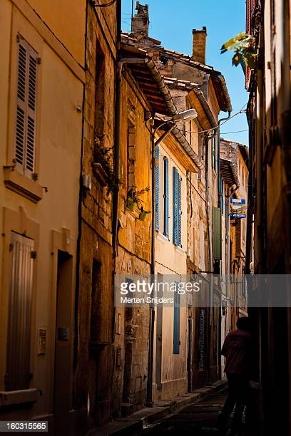 Narrow passage with houses