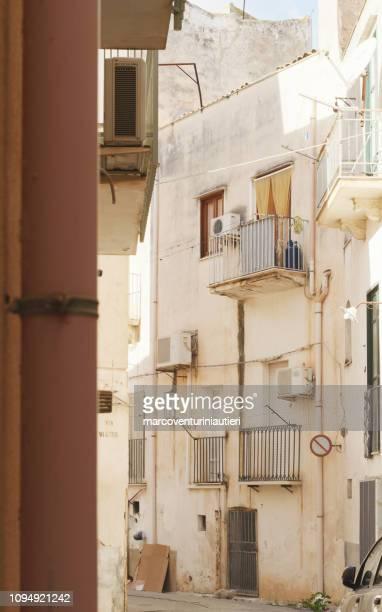 narrow secondary street in Sicily