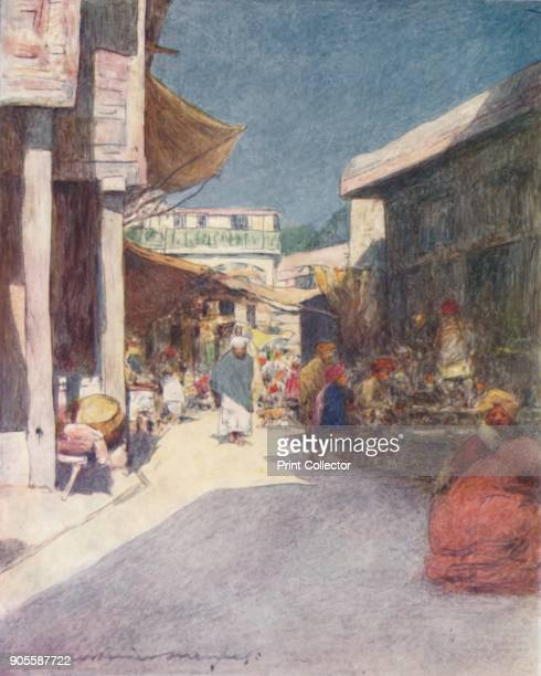 'A Narrow Street' 1905 From India by Mortimer Menpes Text by Flora A Steel [Adam Charles Black London 1905] Artist Mortimer Luddington Menpes