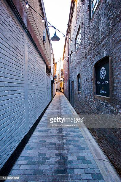 narrow street in belfast - guinness stock pictures, royalty-free photos & images