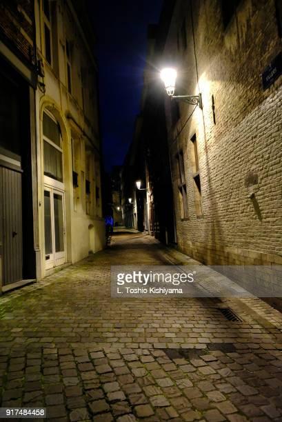 Narrow street in Brussels, Belgium