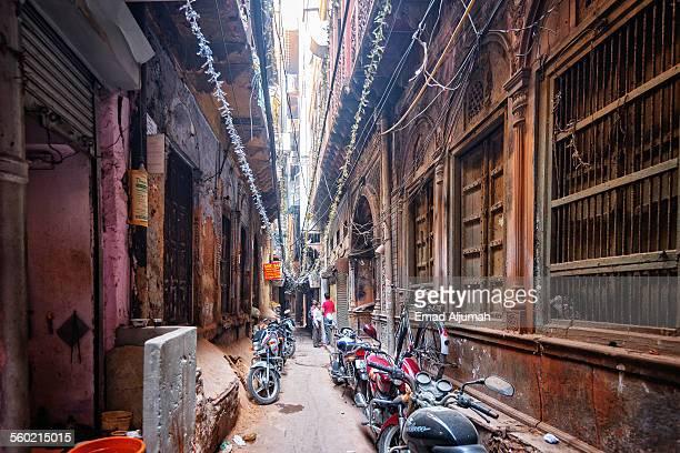 Narrow street in Old Delhi
