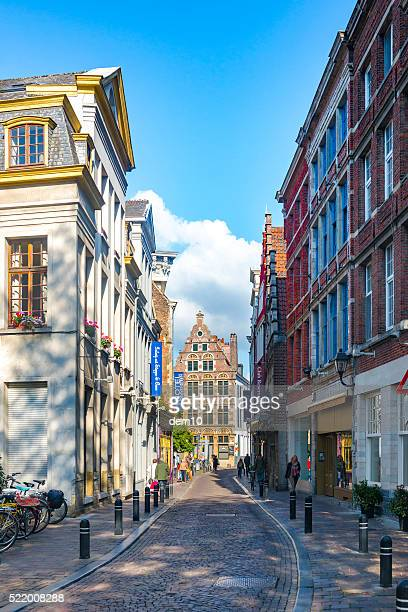 Narrow street in the Belgium city of Ghent