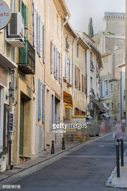 Narrow street in the village of Chateauneuf-du-Pape