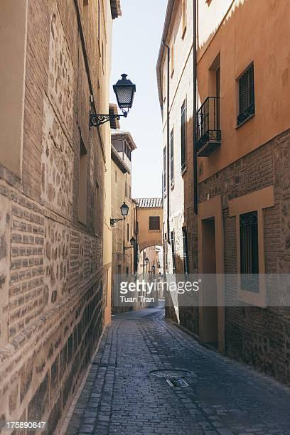 Narrow street in Toledo, Spain, July 16, 2012.