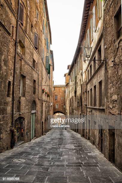 Narrow street of Siena