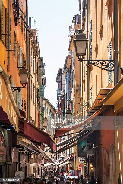 Narrow street scene Nice, France.