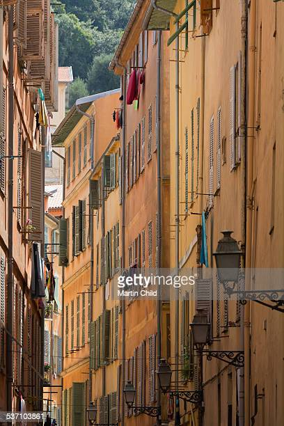 Narrow streets in Nice old town