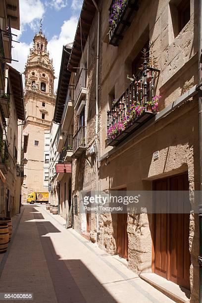 Narrow streets of Haro in La Rioja wine region