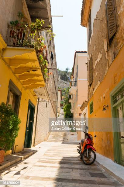 Narrow streets of Nafplion town, Greece