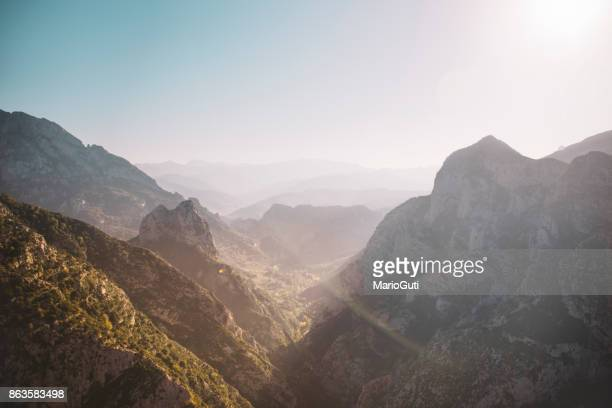 narrow valley in picos de europa, spain - mountain range stock pictures, royalty-free photos & images
