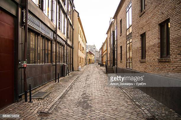 Narrow Walkway Along Buildings