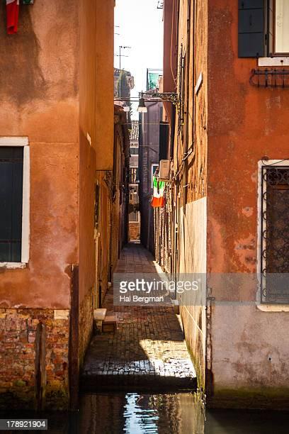 Narrow walkway in Venice