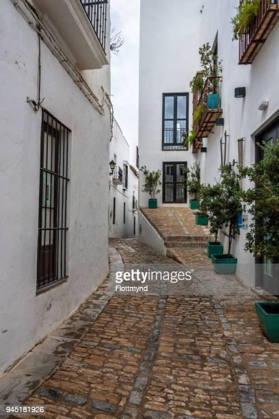 Narrow winding alley in Veger de la Frontera, Spain