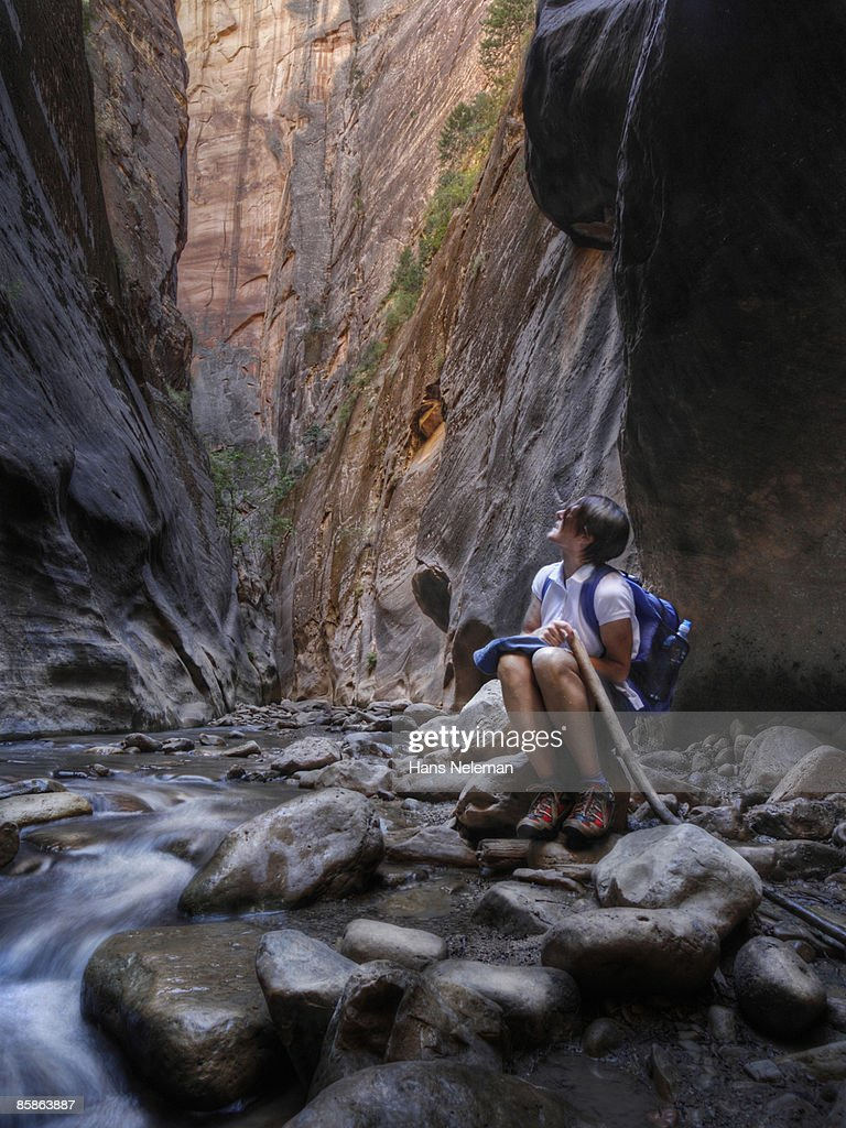 Narrows at Zion. : Stock-Foto