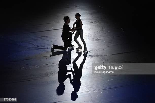 Narumi Takahashi and Ryuichi Kihara of Japan perform in the Gala Exhibition during day three of ISU Grand Prix of Figure Skating 2013/2014 NHK Trophy...